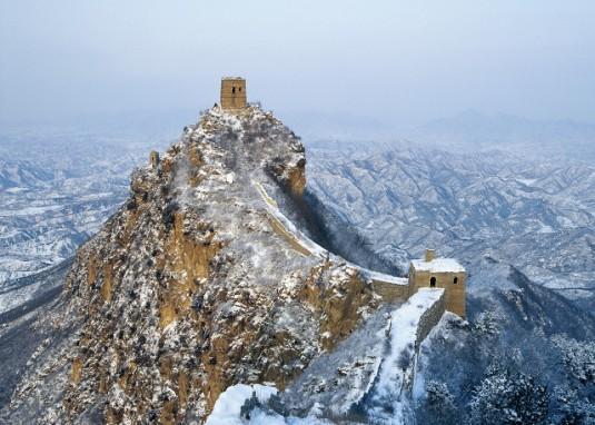 La gran muralla en invierno